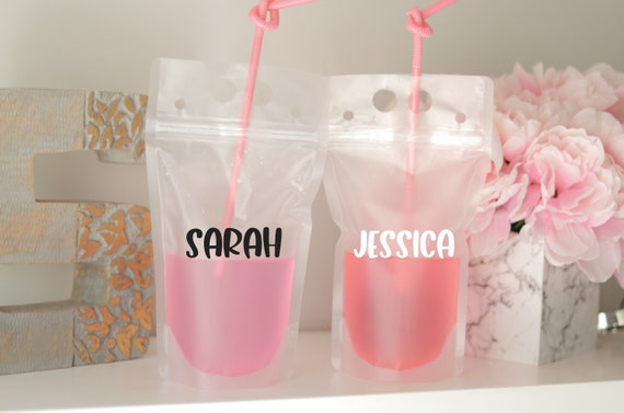 Personalized Drink Pouch   Booze Bag   Bachelorette Party Pouch   Bachelorette Drink Pouch   Personalized Adult Drink Pouch   Bach Favors