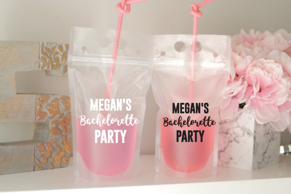 Bachelorette Weekend Drink Pouch   Booze Bags   Bachelorette Party Favor   Drink Pouch   Bach Party Favors    Pool Party Favor   Bach Bash