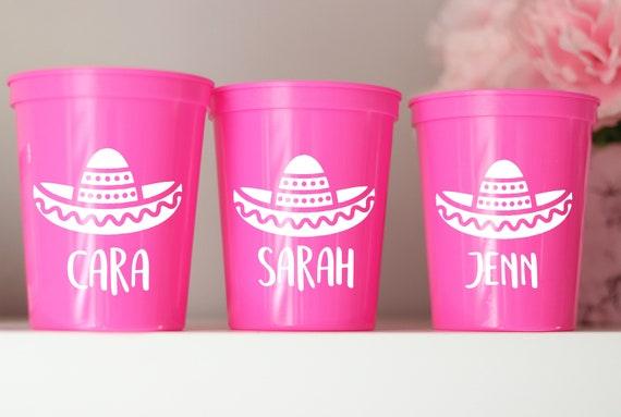 Fiesta Bachelorette Party Cups   Cancun Bachelorette   Mexico Bachelorette   Personalized Fiesta Cups    Bachelorette Party Favors   Cancun