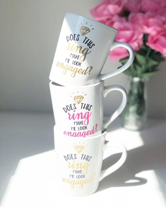 Engaged Mug | Engagement Mug | I Said Yes | Engagement Present | Engagement Gift | Engagement Wineglass | Wedding Mug | Bridal Shower Gifts
