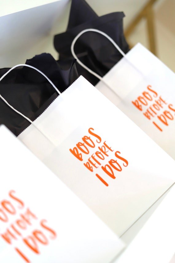 Bachelorette Halloween Gift Bags | Halloween Bachelorette | Treat Bags | Halloween Goodie Bags | Personalized Halloween Favors | Favor Bags