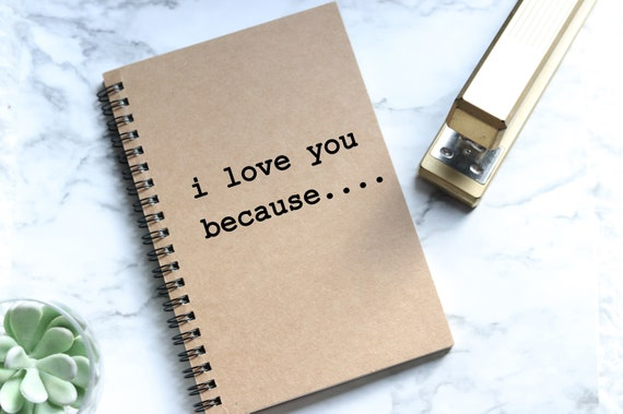 I Love you Because Notebook