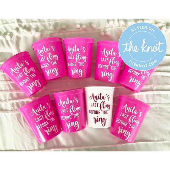 Last Fling Before the Ring Bachelorette Party Cups