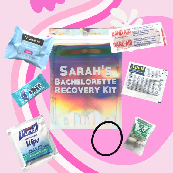 Personalized Bachelorette Hangover Kit with Names | Bachelorette Hangover Kit | Bachelorette Favors | Bachelorette Weekend Favors | Names