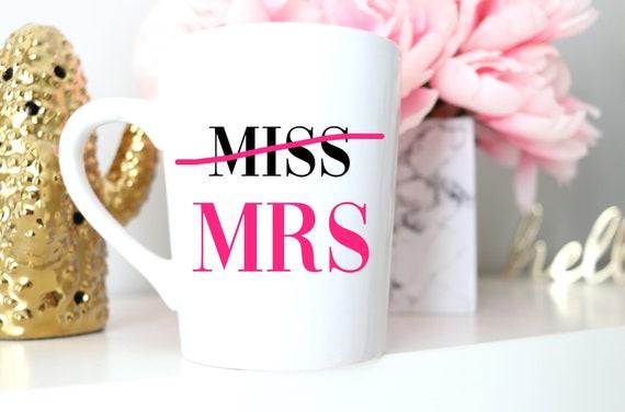 Miss to Mrs Mug | Engagement Gift | Engagement Mug | Wedding Mug | Engaged Wine Glass | Free Personalized Wine glass | Proposal Mug |