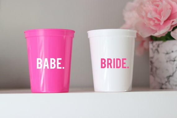 Bride | Babe | Bachelorette Party Cups | Bachelorette Party Favors | Personalized Bachelorette Party Gifts | Customized Bach Party |