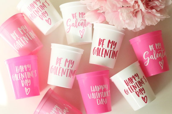 Valentine's Day Cups | Valentine's Day Favors | Galentine's Day Cups | Galentine's Day Favors | Be my Galentine | Galentine's Day Brunch