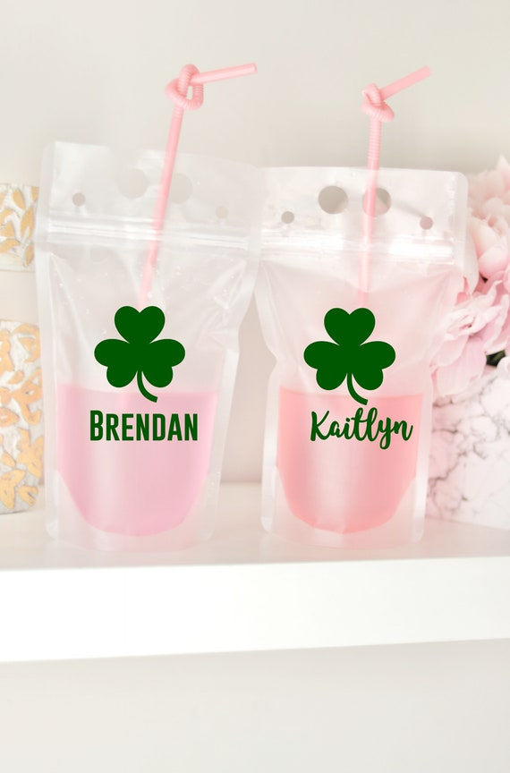 Saint Patrick's Day Favors | Pouches | Saint Patty's Day Favors | St. Patrick's Day Drink Pouch | St. Patty's Day Booze Bags | Saint Patrick