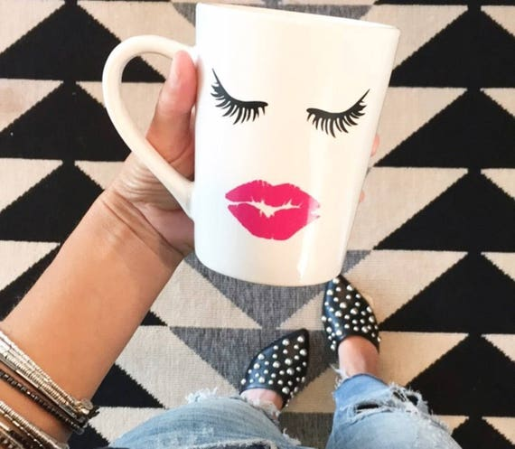 Eyelashes Mug | Beauty | Girly | Makeup | Makeup Brush Holder | Makeup Coffee Mug | Mascara Coffee Mug | Blogger Mug