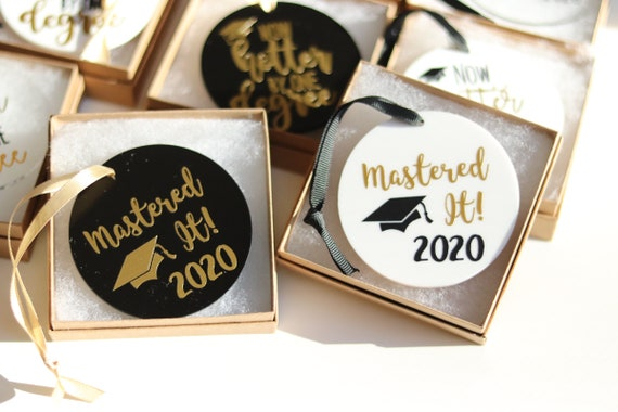 Mastered it 2020 Graduation Ornament | Personalized Graduation 2020 Ornament | Graduation Christmas Gift | 2020 Grad Gift | 2020 | Masters