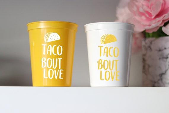Taco Bachelorette Cups | Fiesta Bachelorette |  Bachelorette Party Cups Favors | Cancun Bachelorette | Mexico Fiesta Cups | Personalized