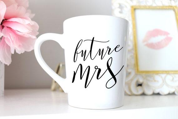 Future Mrs. Mug | Future Mrs. | Engagement Mug | Engagement Gift | Wedding Wine Glass | Engaged Wine Glass | Free Personalized Wine glass