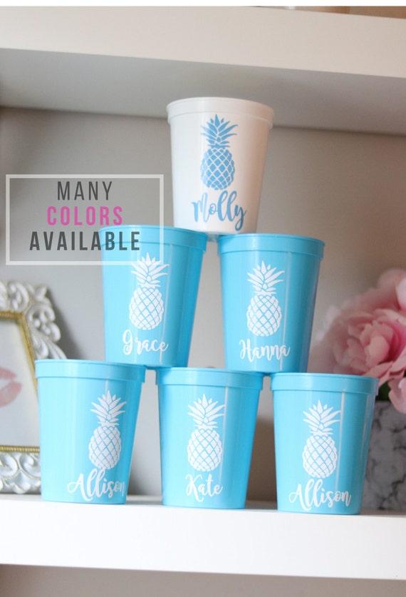 Bachelorette Pineapple Party Cups | Bachelorette Party Favors | Personalized Bachelorette Party Gifts | Customized Bachelorette Party | Bach