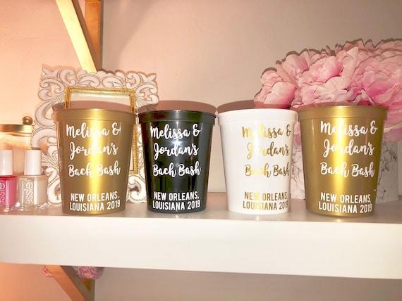 Personalized Bachelorette Party Favor Cups
