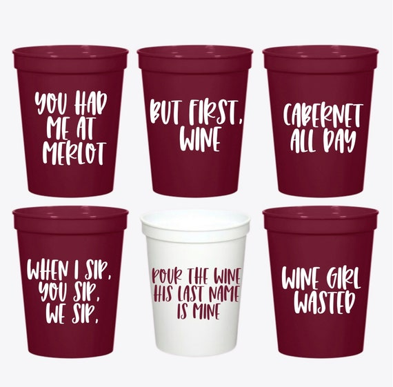 Wine Bachelorette | Wine Party Cups | Wine Bachelorette Party Favors | Personalized Bachelorette Party Gifts | Customized Bach Party | Wine