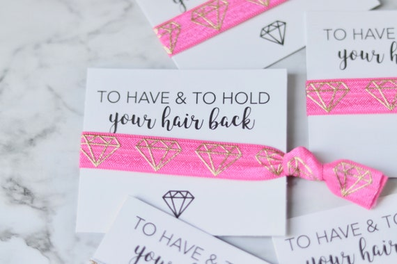 Will you be my bridesmaid favor   Bridesmaid proposal favor   To have and to hold your hair back   Bridesmaid Hair Ties    Bridesmaid Favors