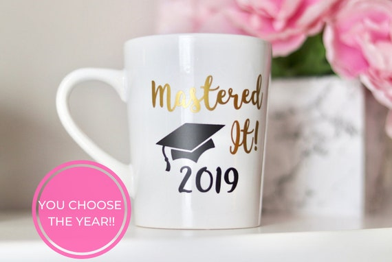 Mastered It 2020 Mug | Graduation Gift | Masters Degree Gift | Graduate Gift 2020 | Graduate School Gift | Masters | Masters Degree Gift