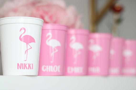 Bachelorette Flamingo Party Cups | Bachelorette Party Favors | Personalized Bachelorette Party Gifts | Customized Bachelorette Party | Bach