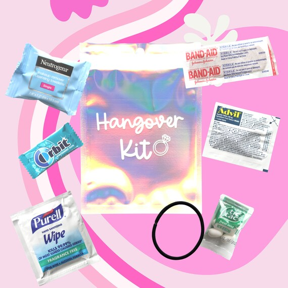 Bachelorette Hangover Kit | Bachelorette Hangover Kit | Bachelorette Favors | Bachelorette Weekend Favors | Personalized Hangover Kit | Bach