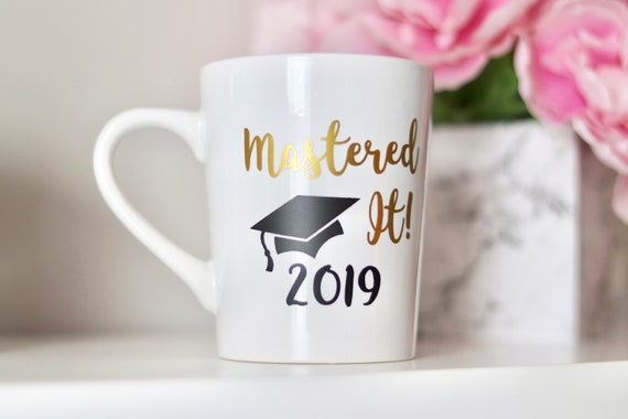 2021 Mastered It SLIGHT IMPERFECTION Mug | Graduation Gift | Masters Degree Gift | Graduate School Gift | Masters | Class of 2021