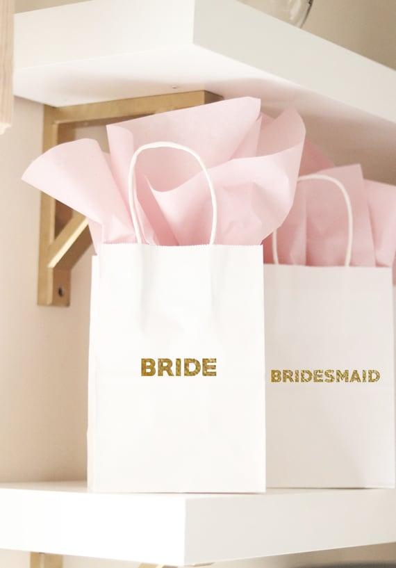 Bridesmaid Gift Bag   Bridesmaid Personalized Gift Bag    Personalized Gift Bags with Names   Wedding Party Favors   Bridesmaid Proposal
