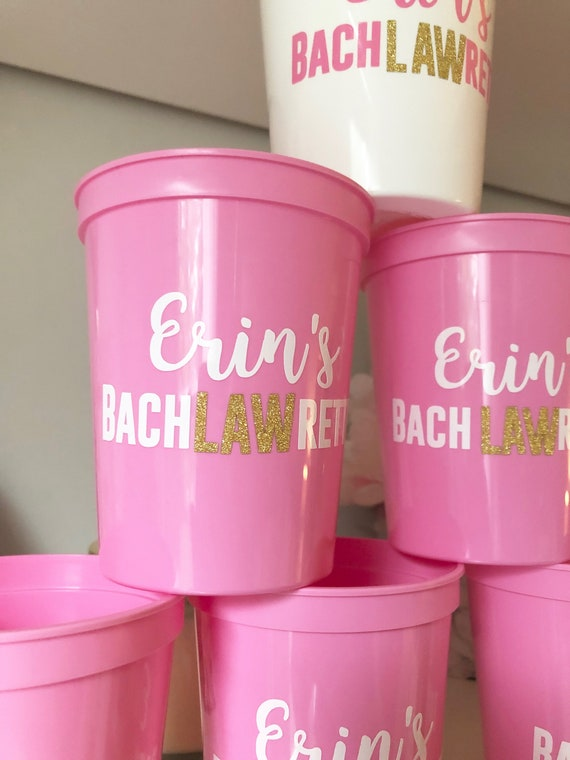 Bachelorette Lawyer Party Cups | Lawyer Bride | Bachelorette Party Favors | Personalized Bachelorette Gifts | Customized Bachelorette Party
