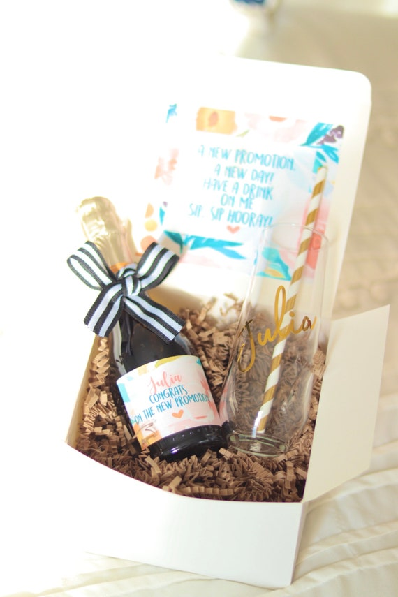 Promotion Gift Box | Alcohol Not Included |Job Gift Box | Congratulations Gift Box | Congrats Gift Box | Personalized New Job | New Job Gift