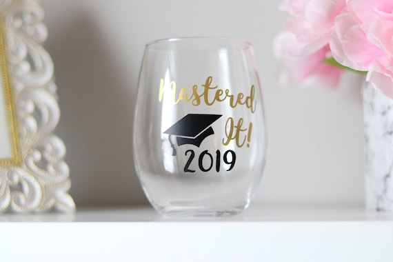 2021 Mastered It SLIGHT IMPERFECTION Wine Glass | Graduation Gift | Masters Degree Gift Graduate Gift | Graduate School Gift | Class of 2021