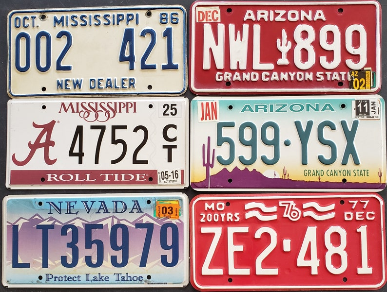 unusual License Plates   13 dollars each  Free to look