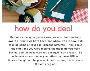 How To Deal With Disappointment Workbook