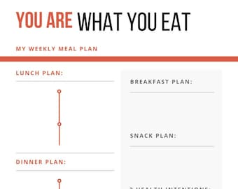 You Are What You Eat Weekly Meal Planner
