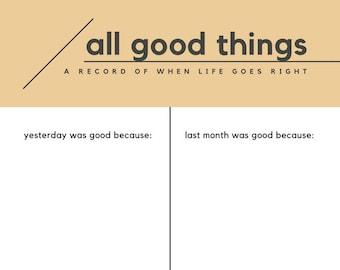 All Good Things worksheet