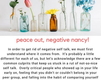 Reducing Negative Self Talk Workbook