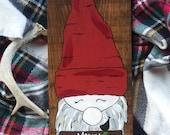 8x18 custom gnome Merry Christmas gnome Hauskaa Joulua gnome Nordic gnome Nordic holiday decor