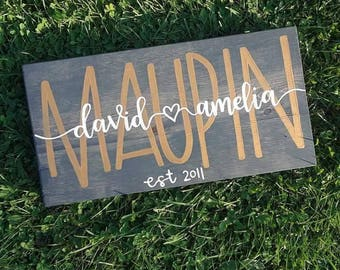 10x18 or 24 Personalized Name Sign