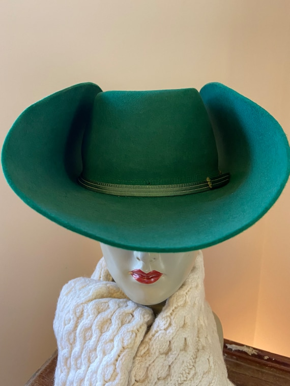Bailey B Bar B Cowboy Hat  ~  Vintage Emerald Gree