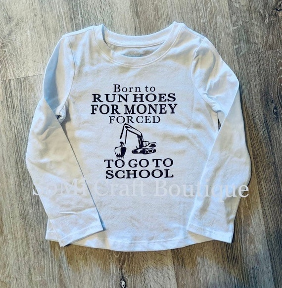 Run Hoes for Money Gift Childrens Long Sleeve T-Shirt Boys Girls Cotton Tee Tops