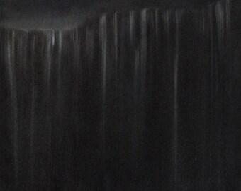 "Fallen. 19"" ORIGINAL Oil Painting on Canvas, Pre-Strung."