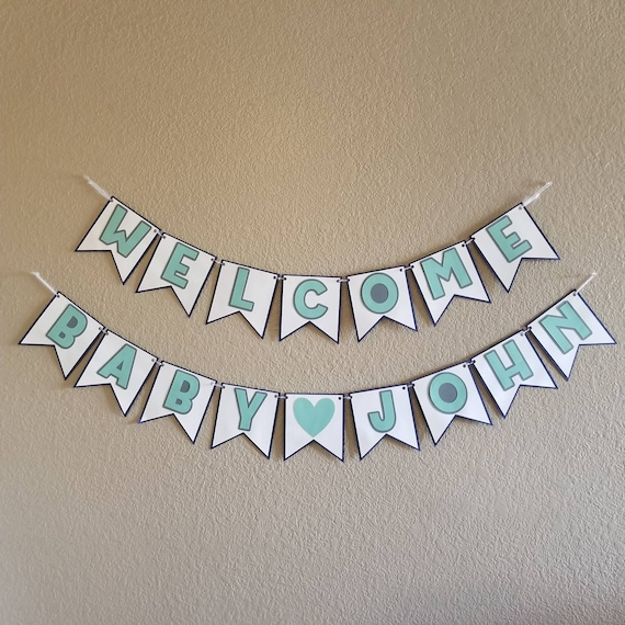 Welcome Baby Banner Welcome Baby Sign New Baby Banner Etsy