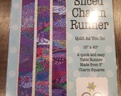 Kaffe Fassett Sliced Charm Table Runner Quilt kit, colourful fabric, charm pack, pre-cut quilting fabric, pre cut sewing fabric, easy quilt