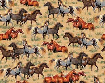 100/% coton Mon petit poney Tissu-Poney aventures Quilting et Craft Tissu