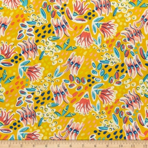 Summer fabric Blender fabric by half yard bright quilting cotton ocean quilting fabric yellow sewing fabric neural blender cotton