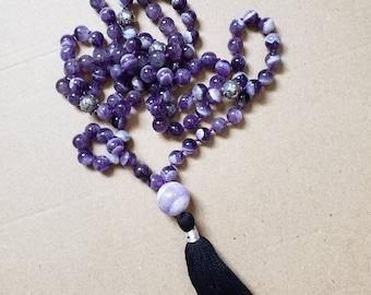 Amethyst 108 Bead Galaxy Mala.