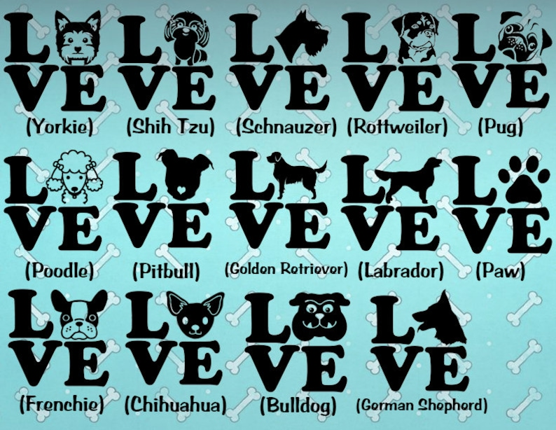 Dog Decal, Dog Sticker, Bulldog, Pug, Yorkie, Shih Tzu, Schnauzer, Poodle,  Pitbull, Golden Retriever, Labrador, French Bulldog, Chihuahua