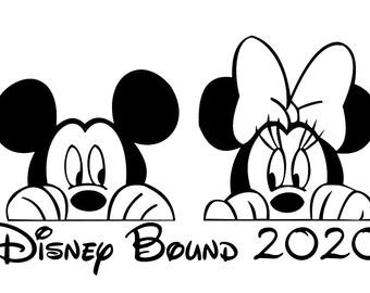 Disney Bound, Peeking Mickey Mouse Decal, Disney Mickey Decal, Peeking Mickey and Minnie Decal, Disney Castle Decal, Disney World, Vacation