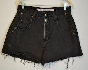 Back in Black - Highwaisted Denim Shorts