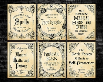 picture regarding Harry Potter Printable Book Covers identified as Wizarding college or university Etsy