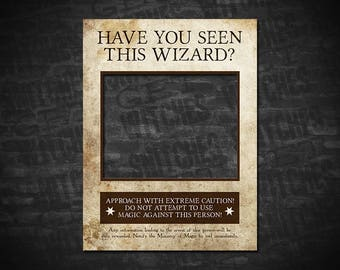 photo about Harry Potter Have You Seen This Wizard Printable called Comprise Yourself Discovered This Witch Photograph Booth Prop Wished-for Poster Etsy