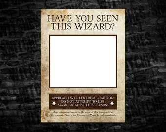 image about Harry Potter Have You Seen This Wizard Printable identify Incorporate Yourself Recognized This Witch Photograph Booth Prop Wished-for Poster Etsy