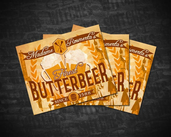 butterbeer printable labels avery 22827 template 4 75 etsy